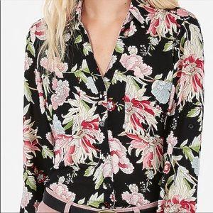 🖤🌺 Express Portofino Floral Blouse Top 🌺🖤